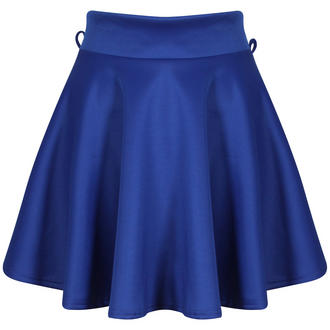 View Item Blue Belted Skater Skirt